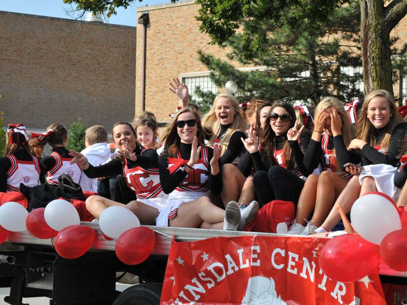 Central cheerleaders go above and beyond