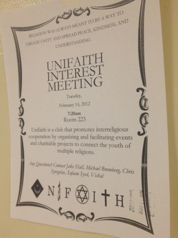 Unifaith+club+takes+new+perspective+on+religious+unity