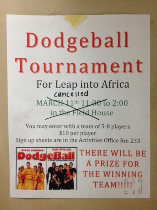 LEAP+cancels+dodgeball+tournament