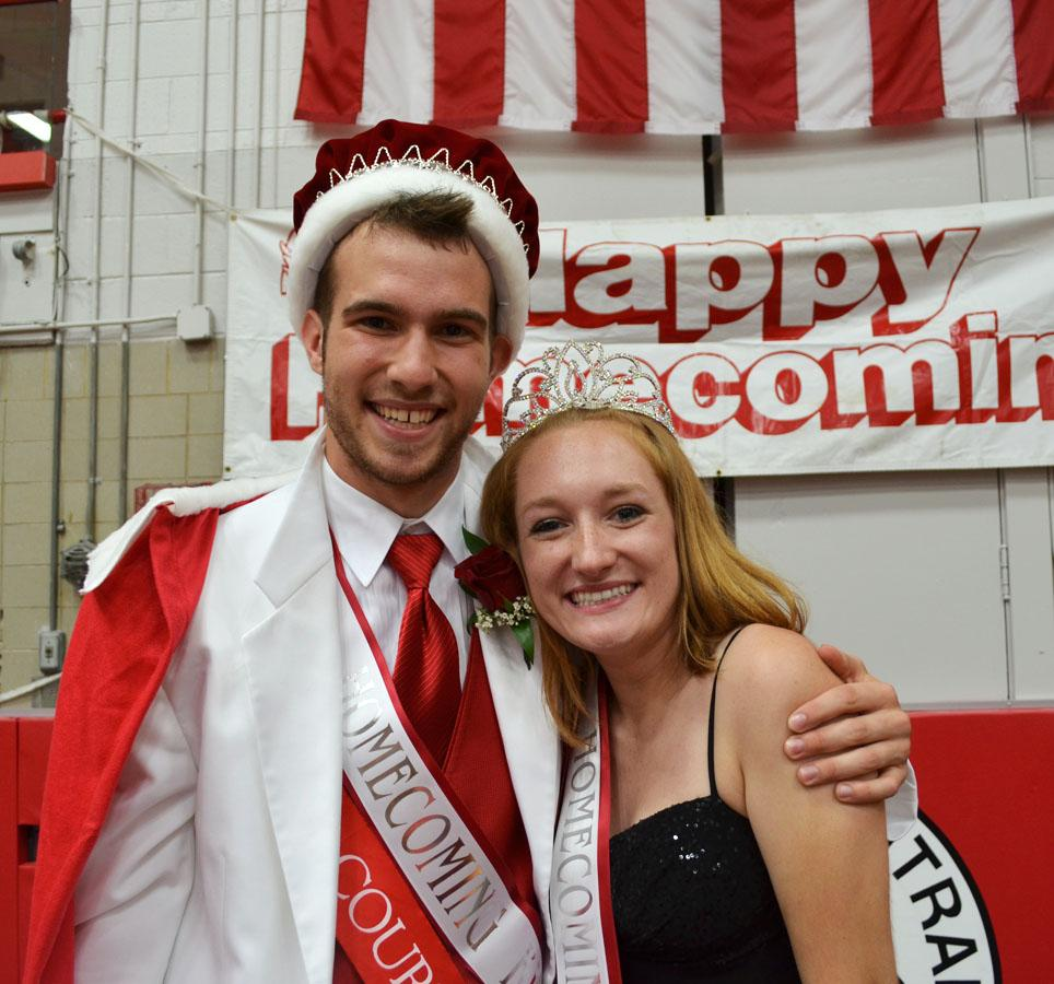 Homecoming king and queen take the throne