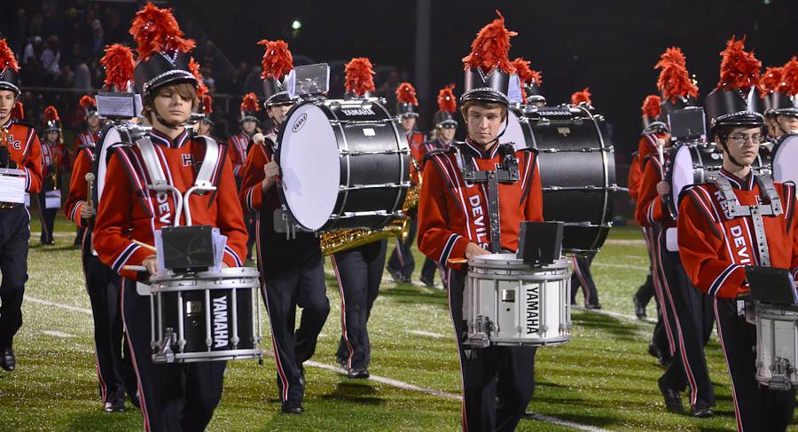 Marching band, color guard prepare for home game