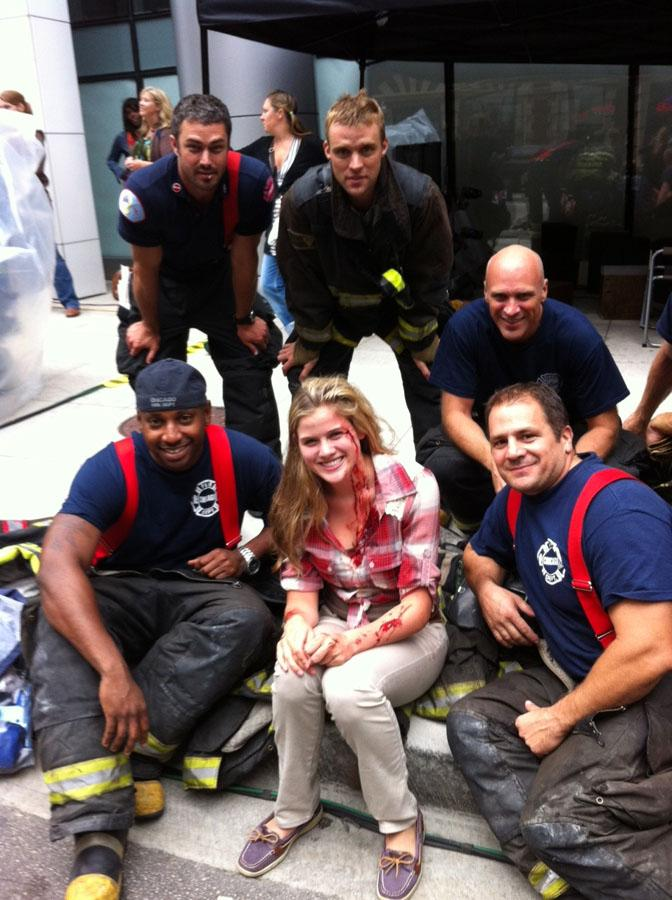 Stafford lights up 'Chicago Fire'