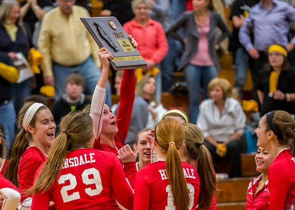 Varsity volleyball ends its successful post-season with loss