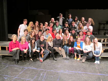 Writer of Grease visits Central