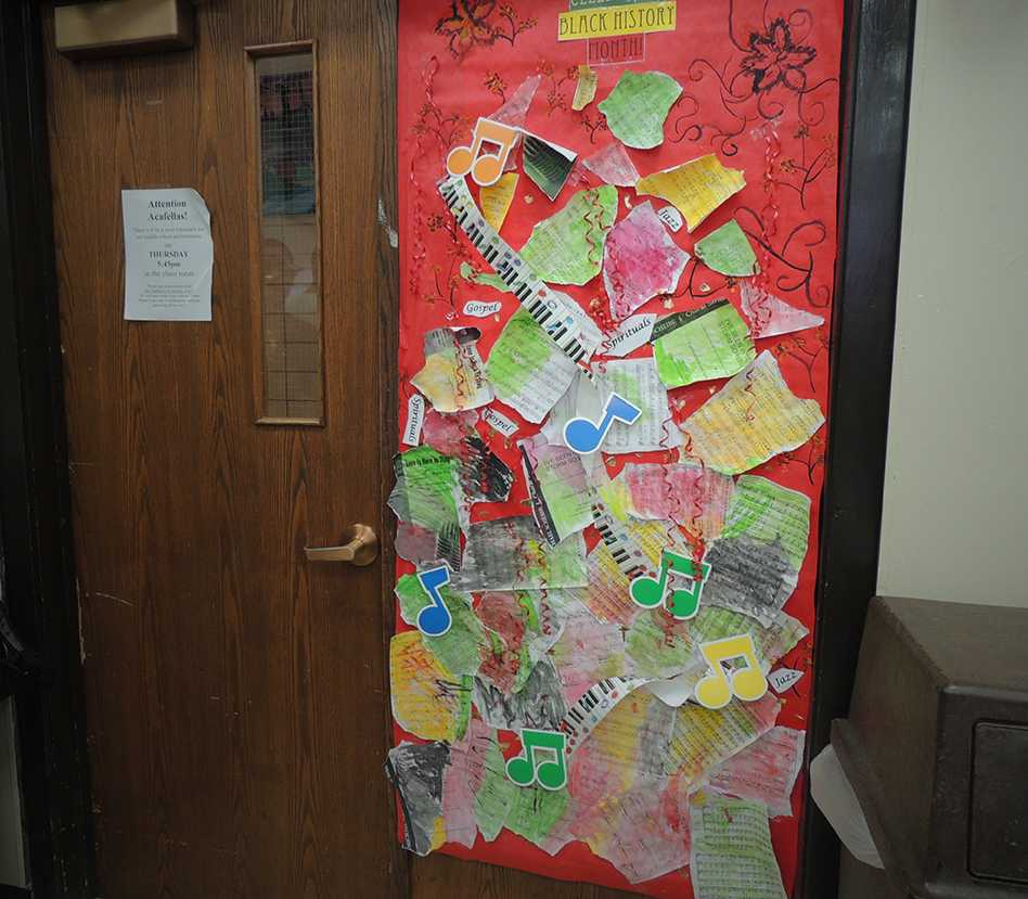 Students, teachers decorate doors for Black History Month