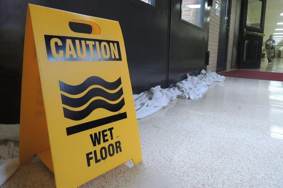 Teachers, students, staff stay afloat during downpour