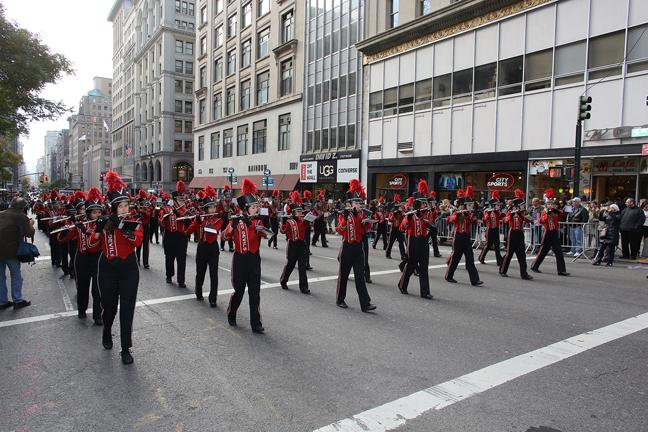 Band and Color Guard perform at Veteran's Day Parade in New York