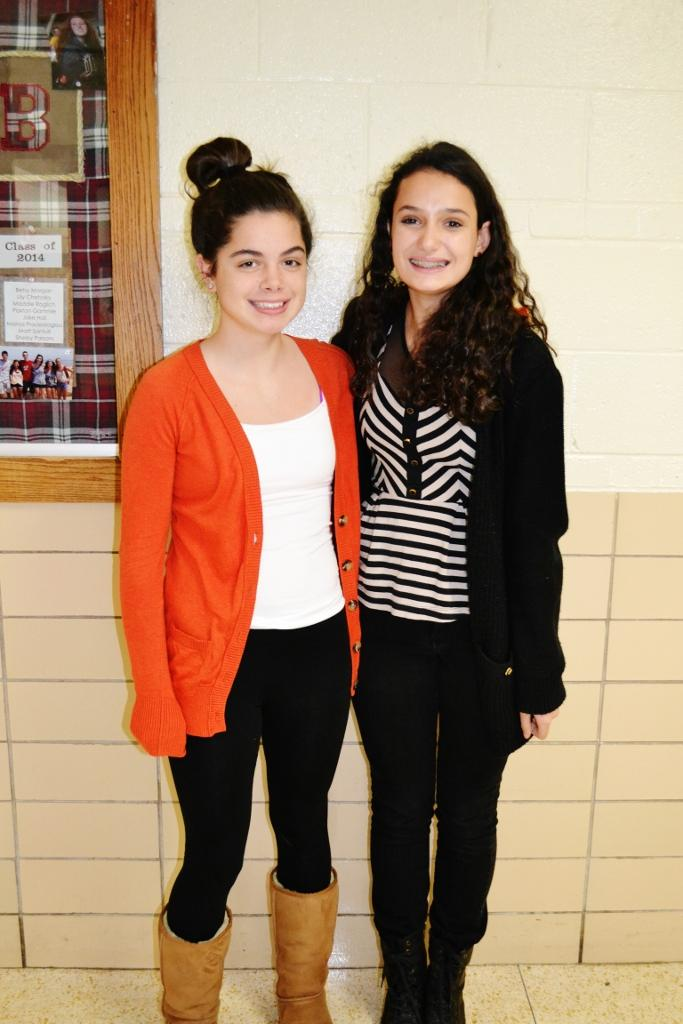 Freshmen Erin Boyle and Libby McCarthy: Boyle's is from Target and McCarthy's is from Nordstrom