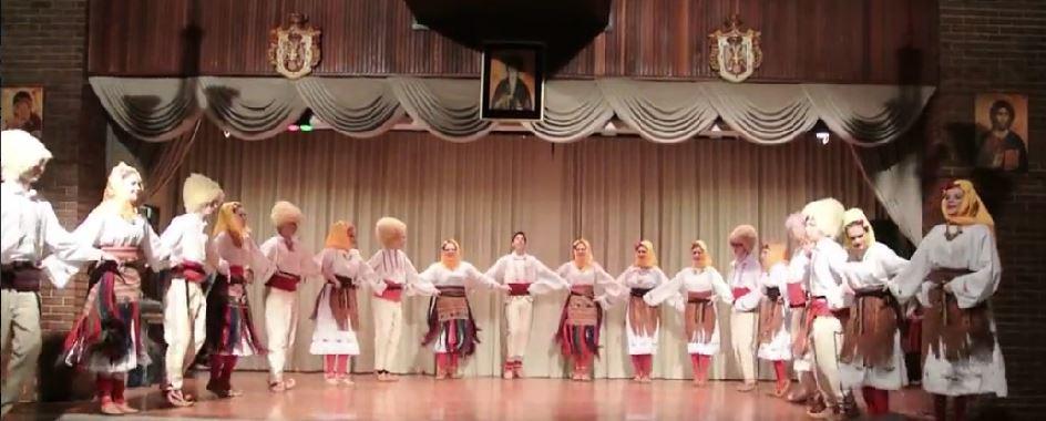 Lakić dances along with her folk