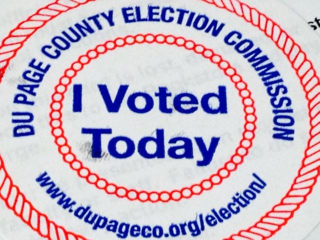 Students participate in Illinois primaries