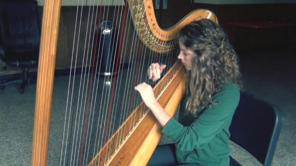Skibicki+plays+the+harp