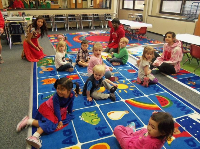 Preschool Practicum: Childcare and Development invites toddlers into classroom
