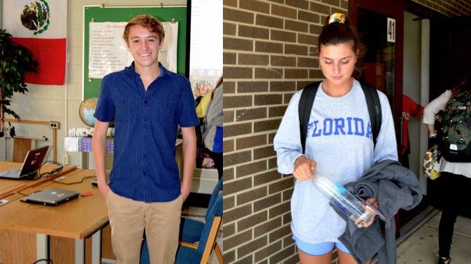 Students model new fashion trends
