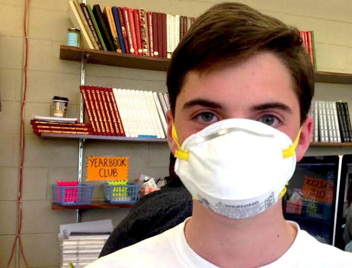 Andrew+Coyner%2C+junior%2C+is+prepared+to+combat+Ebola.