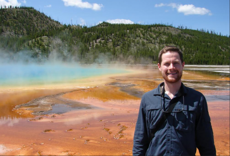 Daniel Scheldrup at the Grand Prismatic in Yellowstone National Park.
