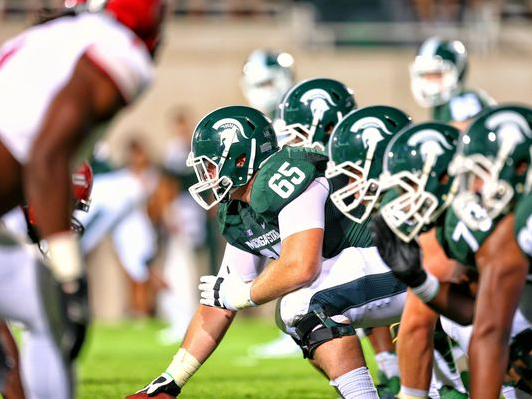 Brian Allen plays football for Michigan State.