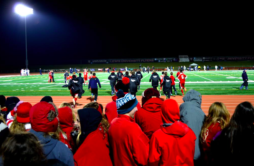 The boys soccer team advanced to the state semifinal after beating Naperville North.