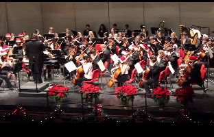 The Hinsdale Central choir and band were featured in the holiday concert.