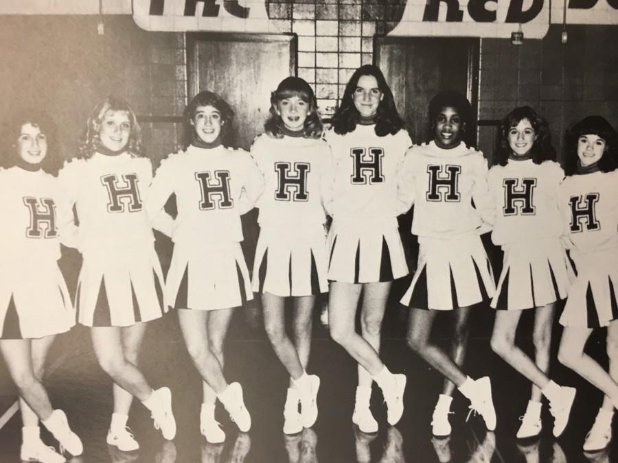 Cheerleaders may homage to older uniforms.
