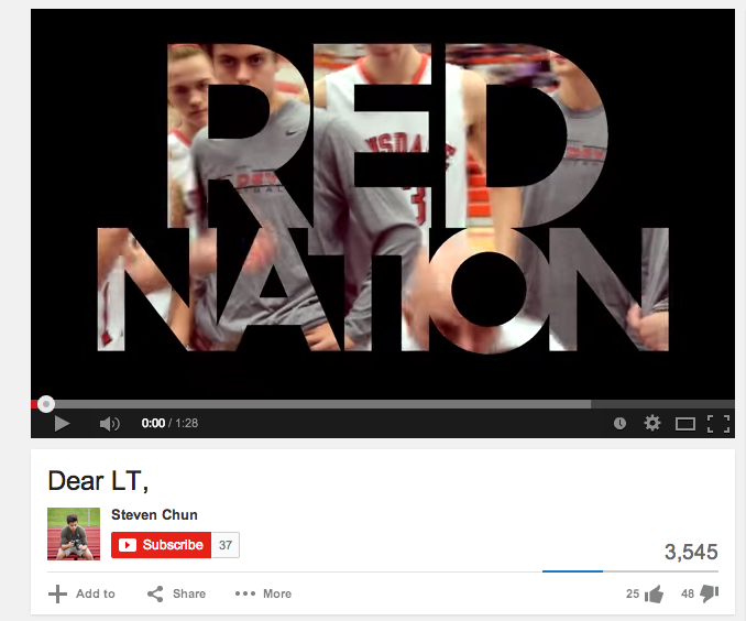 Wes Berger, senior, was targeted for videos like this one that directly target Lyons Township High School.