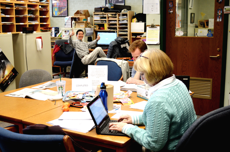 Mr. Ludois, Mr. Liaw, and Ms. Baker work in the Science Office.