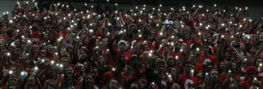 Central students showed support during the Feb. 13 basketball game against Lyons Township.
