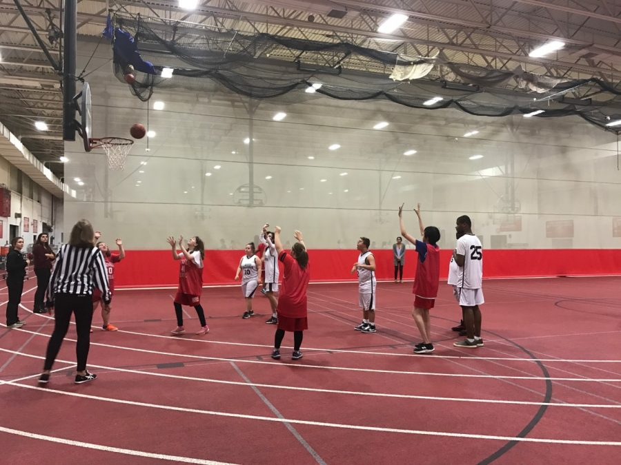 The+Special+Olympics+basketball+team+takes+on+the+D99+Hoops+team.+