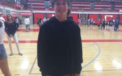 Sam Schiavitti, freshman, takes a break from the freshman square dancing unit in gym.
