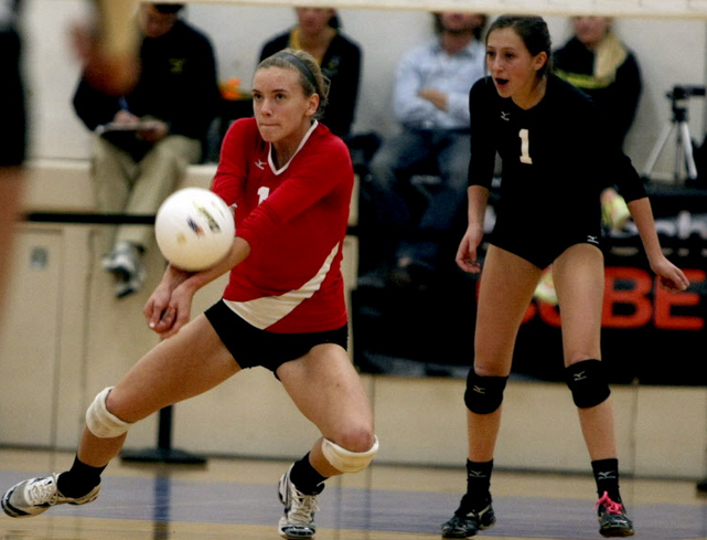 Senior Brooke Istvan plays volleyball club year round. She recently committed to playing at Harvard University.