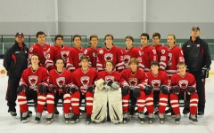 The 2014-2015 varsity hockey team.  The team made it to the second round of the playoffs.