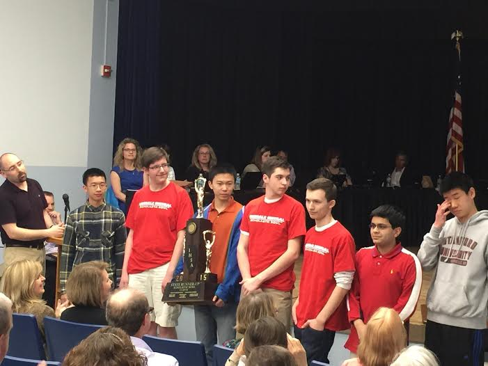 Members of the scholastic bowl received their award at the School Board meeting on April 13.