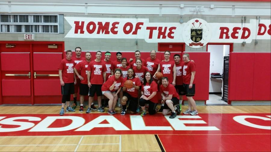 The staff won the basketball game against the seniors 51-50 on May 14.