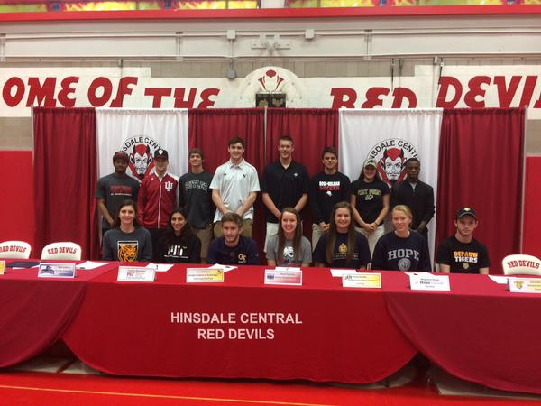 Fifteen seniors signed for their respective schools at Central's spring signing day.