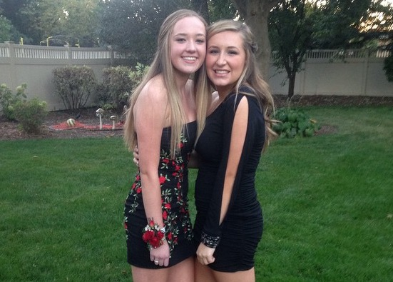 Juniors Serena Martinath and Margot Weiss prepare for their second homecoming