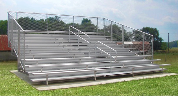 With an expanding band, Central has purchased new bleachers specifically for the band that will look similar to the ones shown in this photo.