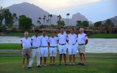 Before the golf tournament, the teams took photos at McCormick Ranch Golf Club in Scottsdale, Ariz. where the competition was held at the beginning of September.