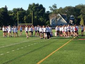 The seniors won the match during the powderpuff game on Sept. 20.