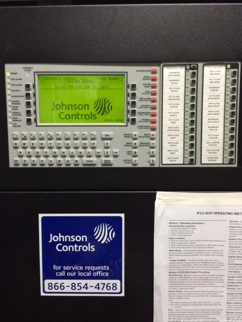 Control panel used to zone off sprinkler systems.
