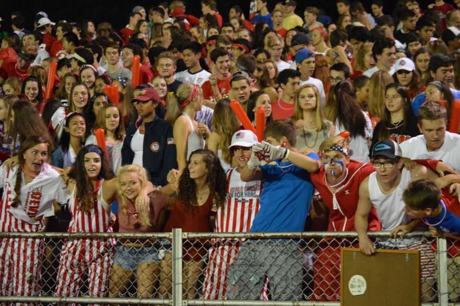 Football games typically have sold out sections for Red Devil Nation, the fan section for Central.
