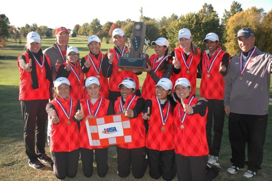 The girls' golf team won state on Oct. 17 repeating the success from last year's state title. Boys' golf also won state for the fourth consecutive year.