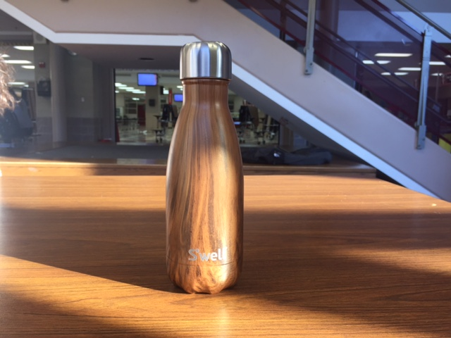 S'well bottles are a style of water bottle on the rise at Central that come in many colors and three sizes.