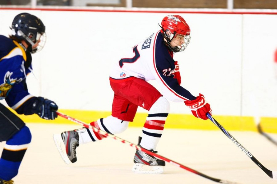 Senior James Hagen plays hockey for his travel team and Central's varsity team.