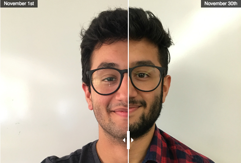 No-Shave November before and after