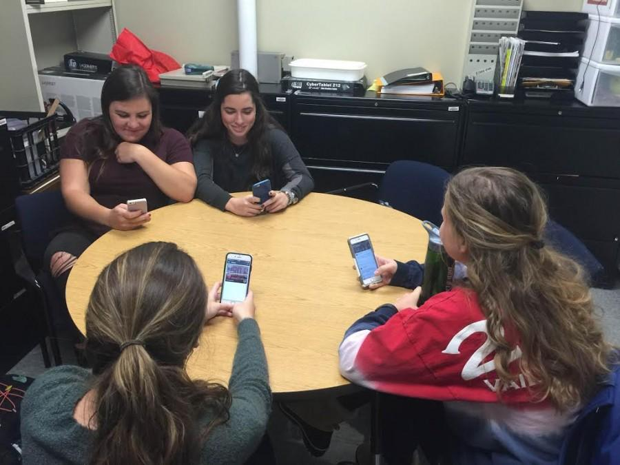 Students in Ms. Brodell's Spanish class use a digital exchange program to communicate with international students.
