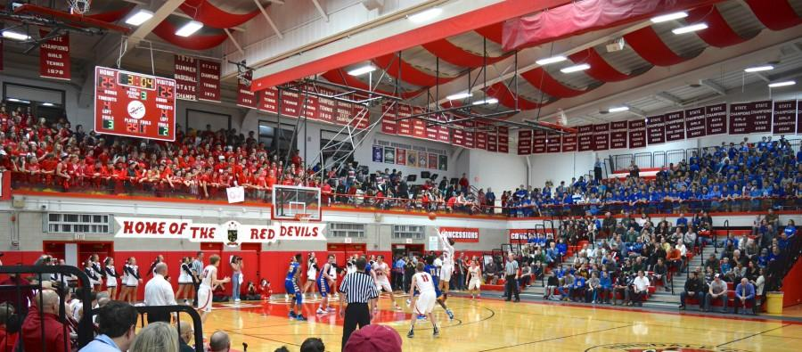 Central boys' basketball played Lyons Township on Friday, Jan. 8 in an anticipated rivalry game. LT won the game in overtime 59-53.