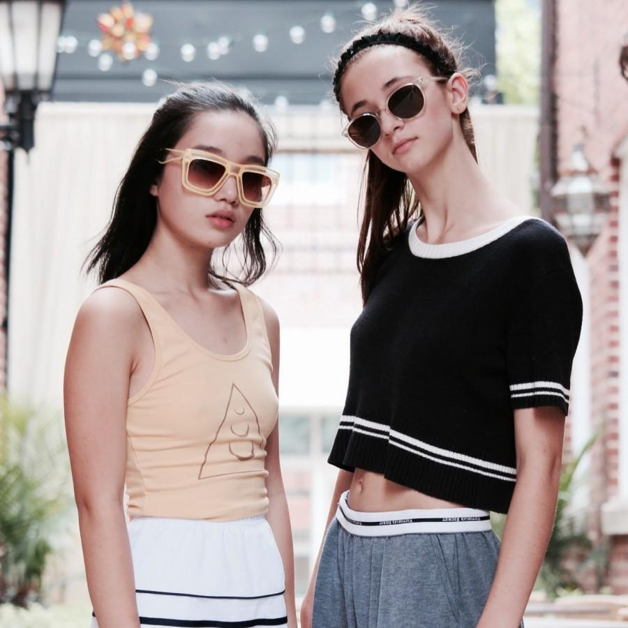 Grace+Lu+and+Madison+Andoniadis+display+their+personal+fashion+sense.+They+just+started+their+own+club+designed+around+a+passion+for+fashion.+