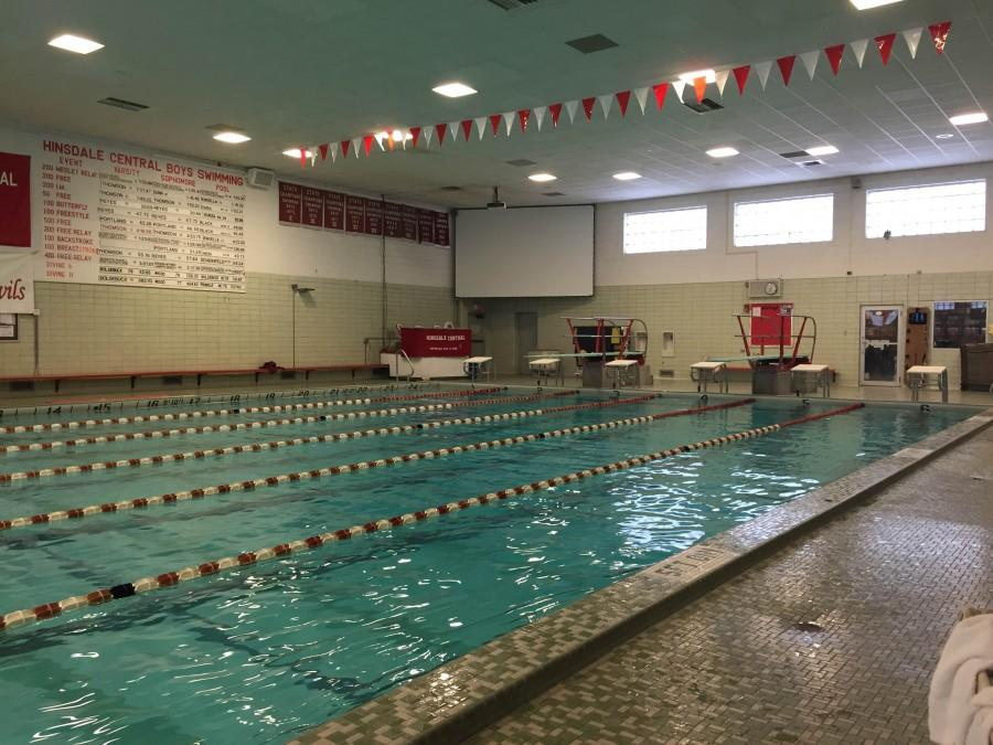 Hinsdale Central's pool is home to five activities and is likely going to be rebuilt if Master Facility Plan is approved.