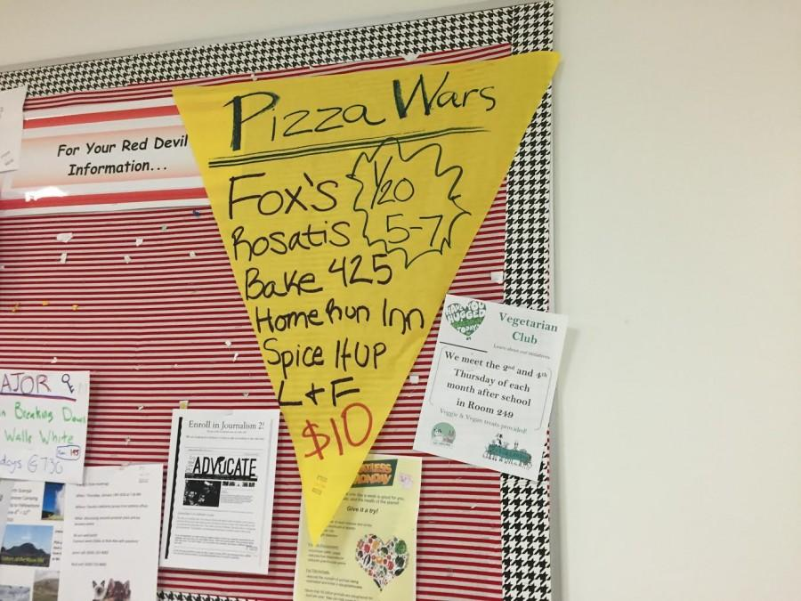 Pizza Wars, a fundraiser for Feed My Starving Children, will be held on January 20, 2016 prior to the Variety Show.