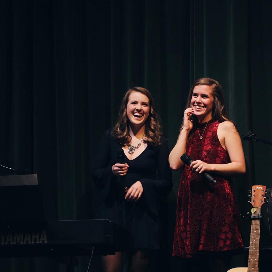 Brigid Mulligan and Grace Franko perform at their