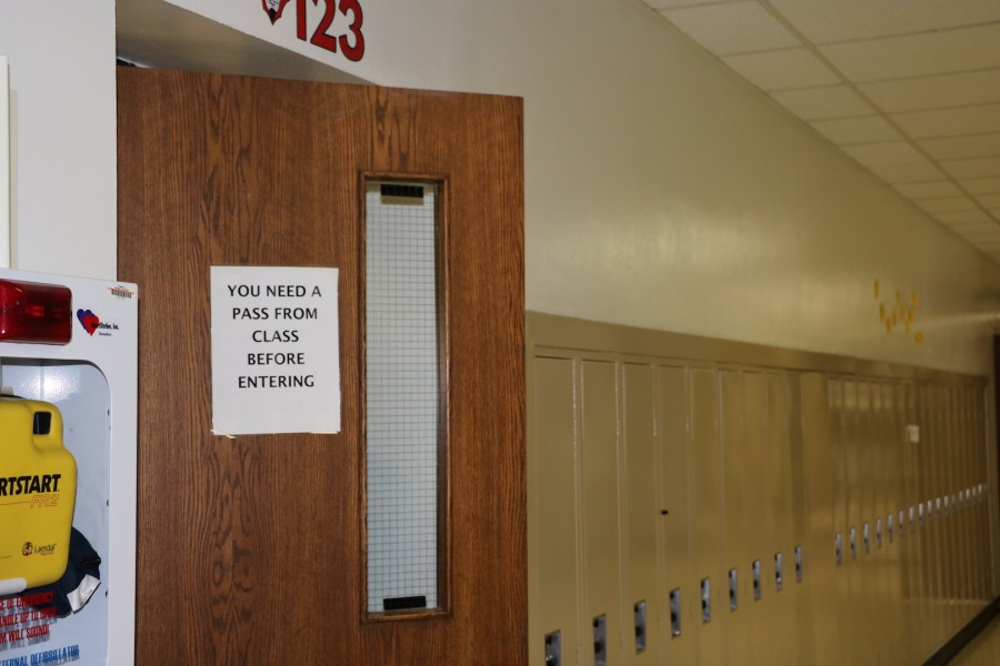 The rule saying that students cannot enter without a pass, which is one of the most disliked rules in the school.
